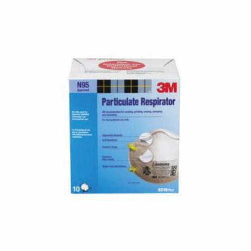 3M™ 051131-91758 8210 Cup Style Disposable Particulate Respirator, Standard, Resists: Certain Non-Oil Based Particles, Dust and other Particles