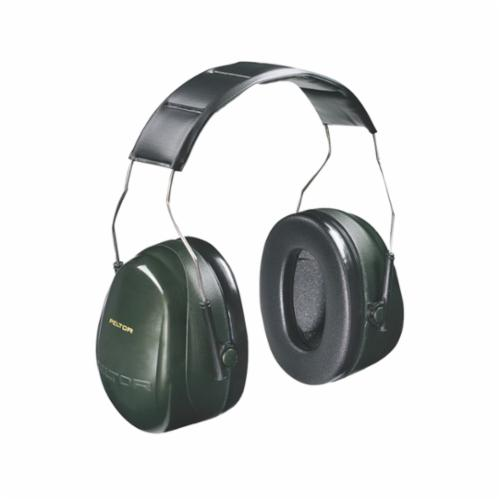 Peltor™ 093045-08071 Optime™ 101 Earmuffs, 27 dB Noise Reduction, Black/Green, Over The Head Band Position, ANSI S3.19-1974