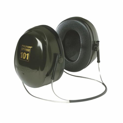 Peltor™ 093045-08072 Optime™ Earmuffs, 26 dB Noise Reduction, Black/Green, Behind-the-Neck Band Position, ANSI S3.19-1974, CSA Class AL