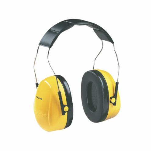 Peltor™ 093045-08091 Optime™ Lightweight Earmuffs, 25 dB Noise Reduction, Black/Yellow, Over The Head Band Position, ANSI S3.19-1974, CSA Class AL