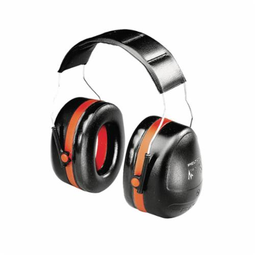 Peltor™ 093045-08101 Optime™ 105 Dielectric Earmuffs, 30 dB Noise Reduction, Black/Red, Over The Head Band Position, ANSI S3.19-1974, CSA Class AL
