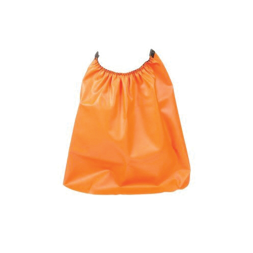 3M™ GR1C Hard Hat Rain Shield, Orange, PVC Coated Nylon, 5-1/2 in H x 1/2 in W, For Use With 3M™ Headgear Systems