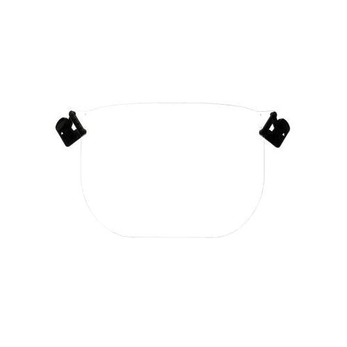 Peltor™ V2CS Anti-Static Visor, Clear, Polycarbonate, 0.2 in H x 8-1/4 in W, For Use With 3M™ Peltor™ P3EV/2 Hard Hat Adapter and the 3M™ Peltor™ Cap-Mounted Earmuff