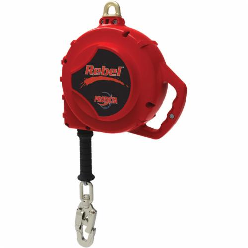 3M Protecta Fall Protection 3590502 Rebel™ Self-Retracting Lifeline With Swivel Self-Locking Snap Hook, 310 lb Load Capacity, 33 ft L, Specifications Met: CSA Z259.2.2 Type 2, OSHA 1910.66, OSHA 1926.502