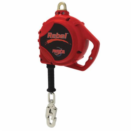 3M Protecta Fall Protection 3590518 Rebel™ Self-Retracting Lifeline With Swivel Self-Locking Snap Hook, 420 lb Load Capacity, 20 ft L, Specifications Met: ANSI Z359.14, ANSI A10.32, CSA Z259.2.2 Type 2, OSHA 1910.66, OSHA 1926.502