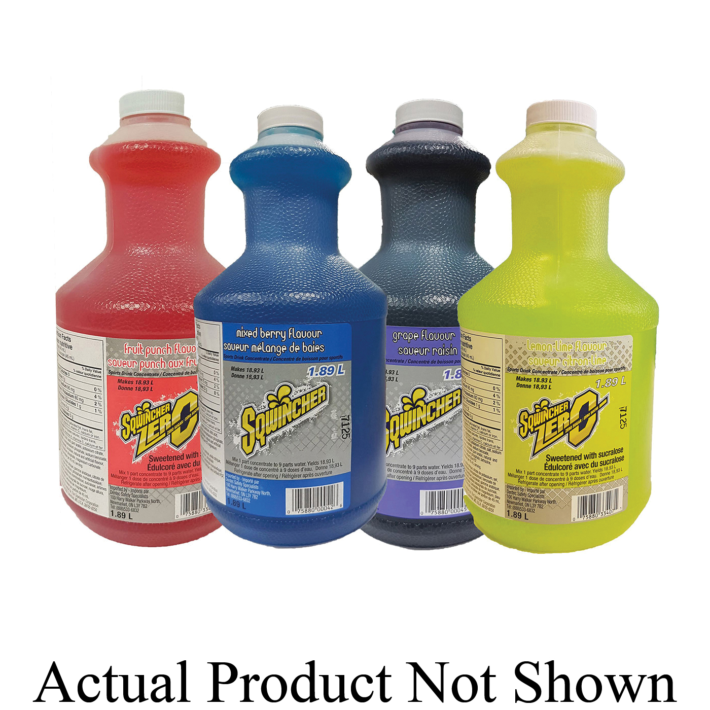 DenTec™ Comfort-Air™ 11020 Sqwincher Standard Formula Sports Drink, 64 oz Bottle, 5 gal Yield, Liquid Form, Lemonade