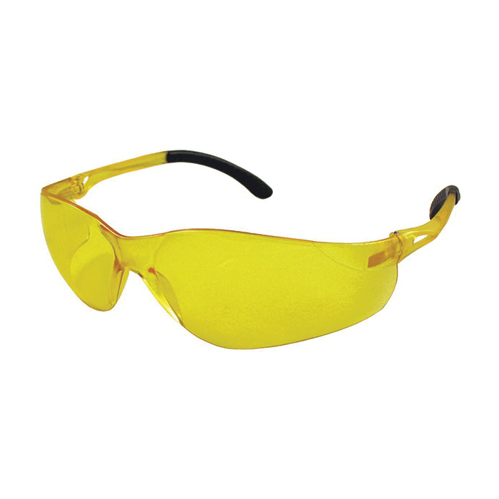 DenTec™ 90803 Sentinel Eye Protection, Anti-Scratch, Amber Lens, Wrap Around Frame, Amber, Plastic Frame, Polycarbonate Lens, ANSI Z87.1|CAN/CSA Z94.3|SEI Certified