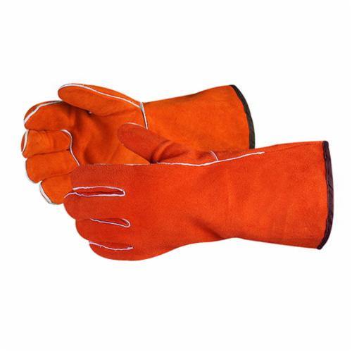 Endura® 505MARS Deluxe Welding Gloves, XL, Select Side Split Cowhide Leather, Orange, Foam, 4 mil Glove Material Thickness