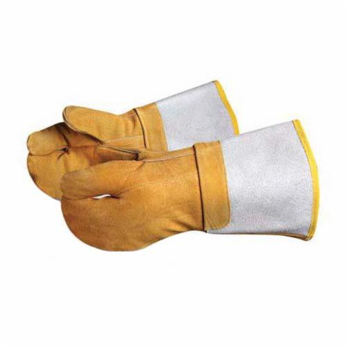 Endura® 681BFi Heavy Duty Welding Gloves, L, Devil Chrome Tanned Leather/Kevlar®, Brown, Thermofoam Lining, Gauntlet Cuff