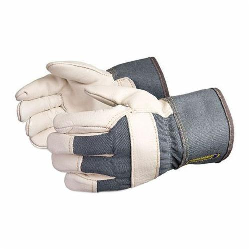 Endura® 76BRF Heavyweight General Purpose Gloves, Fitters, L, Grain Cowhide Leather Palm, Grain Cowhide Leather, Red, Safety Cuff, Resists: Abrasion, Water, Oil and Scrapes, Laminated Foam Lining