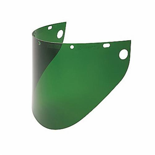 Fibre-Metal® by Honeywell 4199DGN Extended View Faceshield Visor, Dark Green, Propionate, 9-3/4 in H x 19 in W x 0.06 in THK Visor, For Use With F400, F500 and FH66 Faceshields, Specifications Met: ANSI Z87.1+, CSA Z94.3