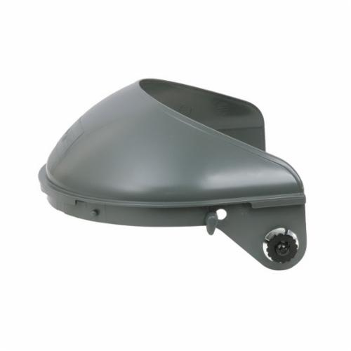 Fibre-Metal® by Honeywell F4400 High Performance Faceshield Headgear, Gray, Noryl, For Use With Attaches To E2Q, P2HNQ Series Hard Hats, Ratchet Suspension Adjustment