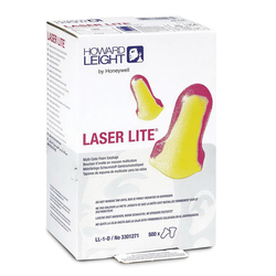 Howard Leight by Honeywell LL-1-D Laser Lite® Single Use Earplugs, 32 dB Noise Reduction, T-Shape Shape, 2003/10/EC, 89/686/EEC, ANSI S12.6/1997, ANSI S3.19-1974, EN 352-2:1993, EN-24869-1:1993, Z94.2-1994, Disposable, Uncorded Design