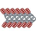 Brady® 65375 Non-Labeled Scissor Action Standard Lockout Hasp, 6 Padlocks, 0.4 in Max Dia Padlock Shackle, LOTO-63 Steel