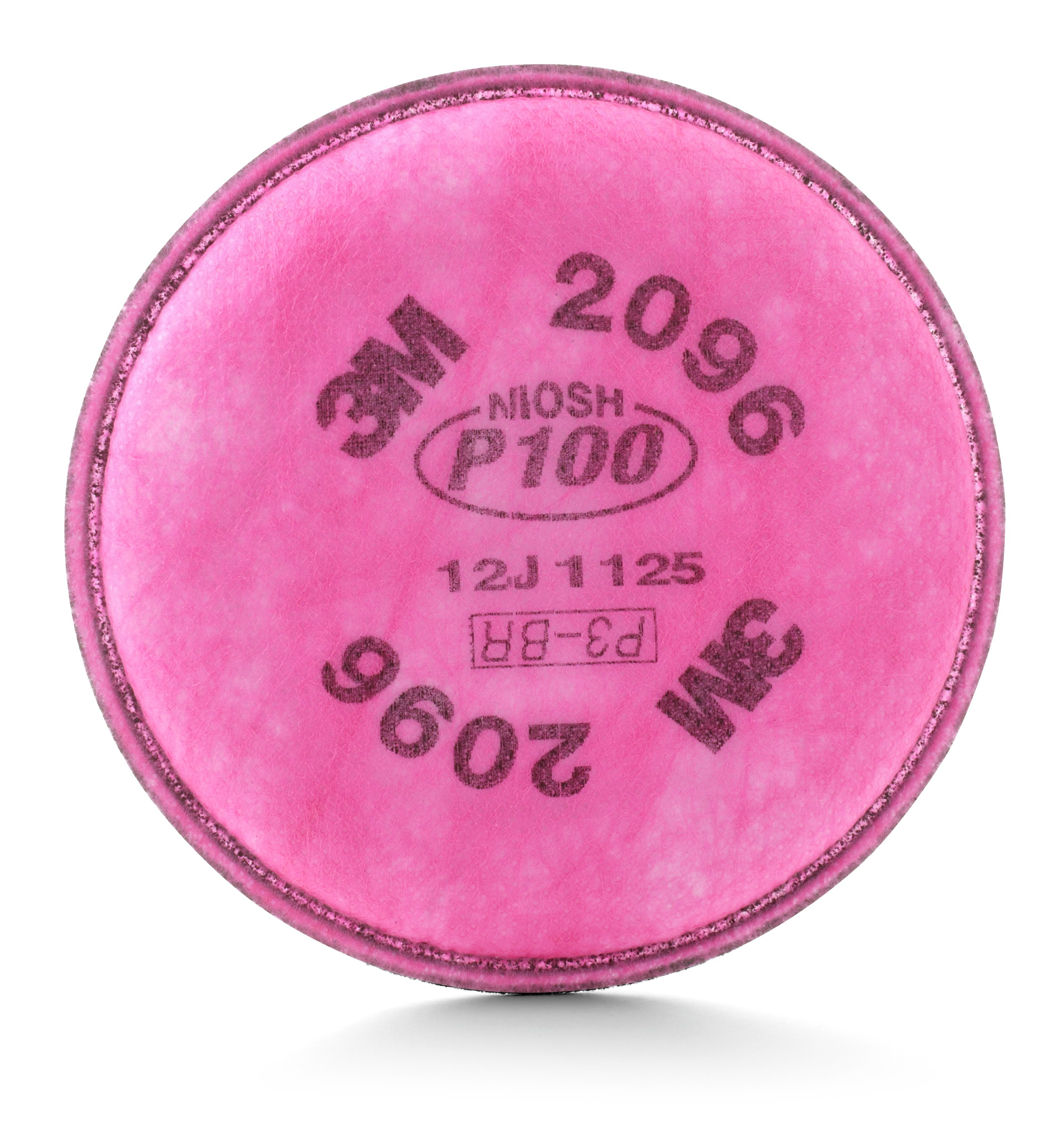 3M™ 051138-54295 Particulate Filter With Nuisance Level Acid Gas Relief, For Use With 3M™ 5000 Series Respirators, 6000 Series Cartridges with 502 Adapter and 6000/7000/FF-400 Series Facepieces with Bayonet Filter Holders, P100 Filter Class, Magenta