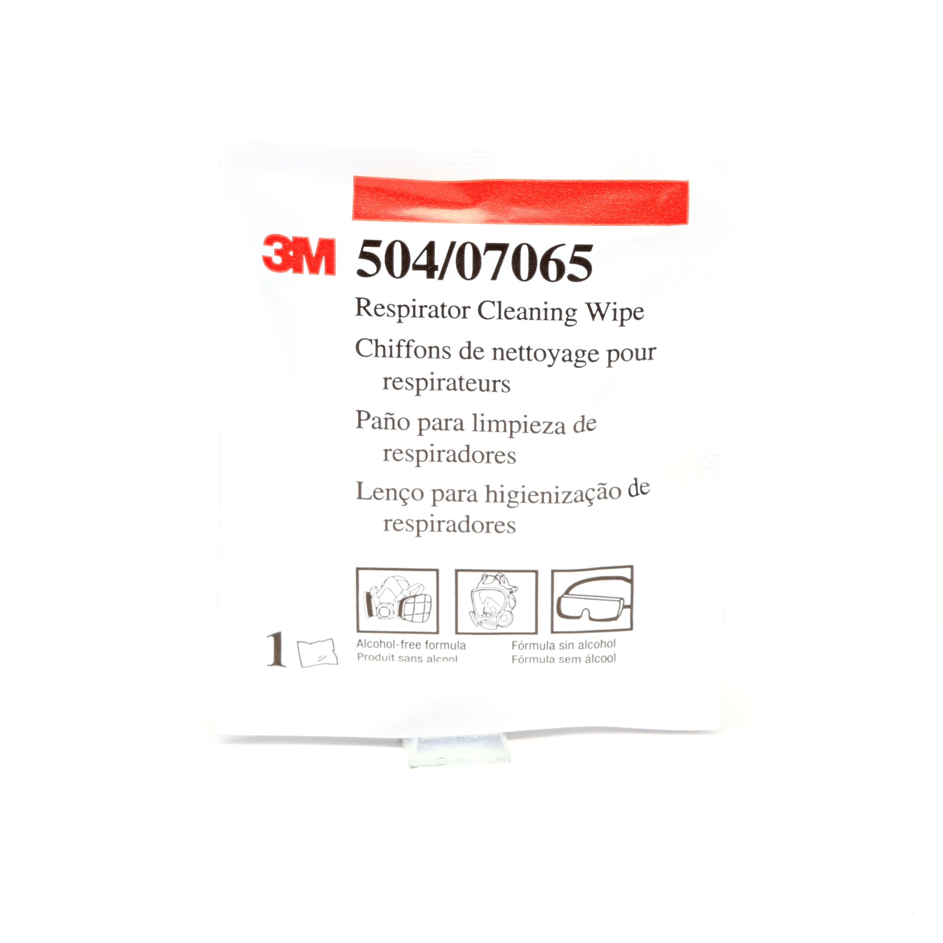 3M™ 051131-07065 Respirator Cleaning Wipe, Alcohol-Free Solution, Box Package