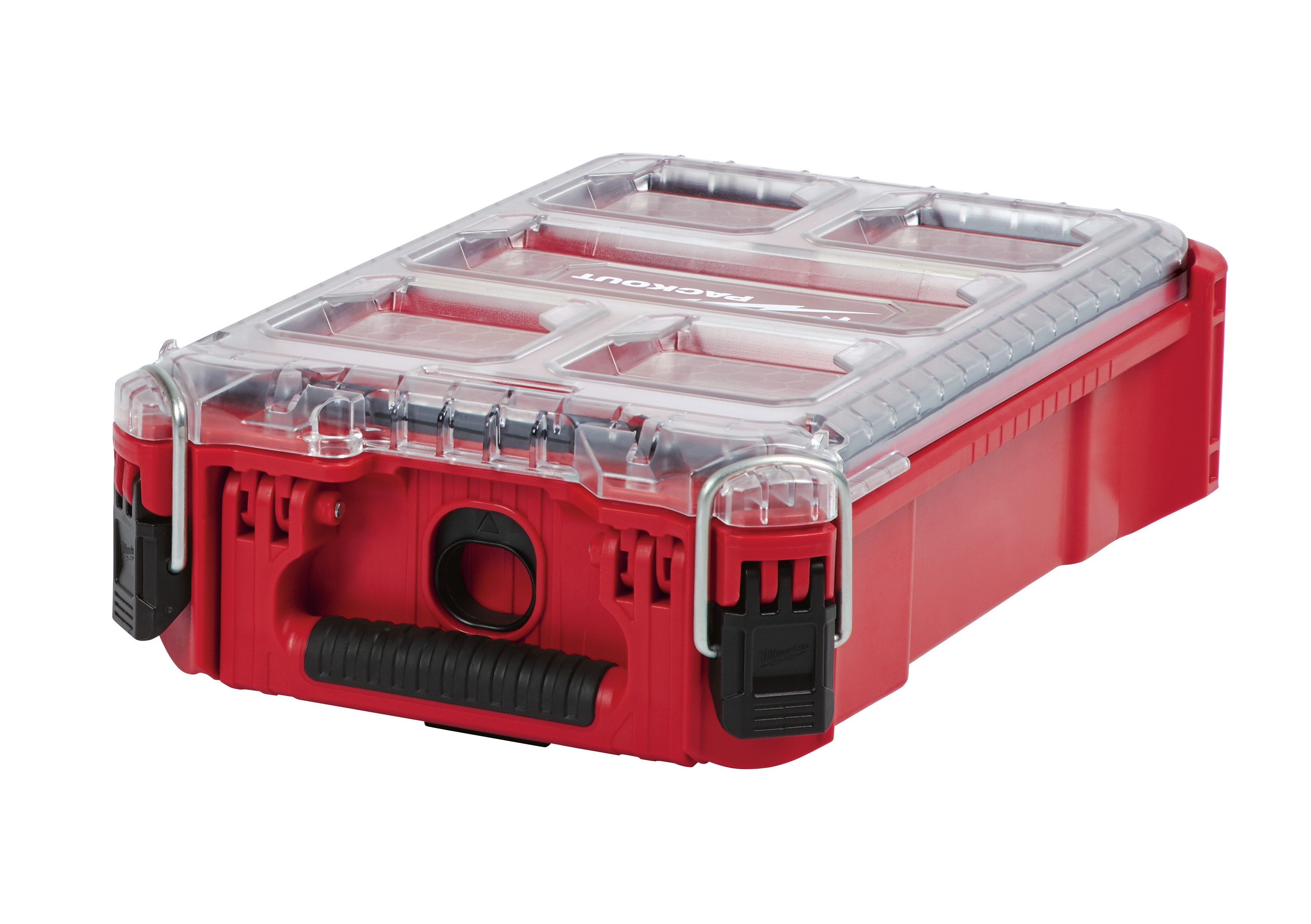 Milwaukee® PACKOUT™ 48-22-8435 Compact Impact-Resistant Tool Organizer, 4.61 in H x 15.24 in W, Polymer, Red