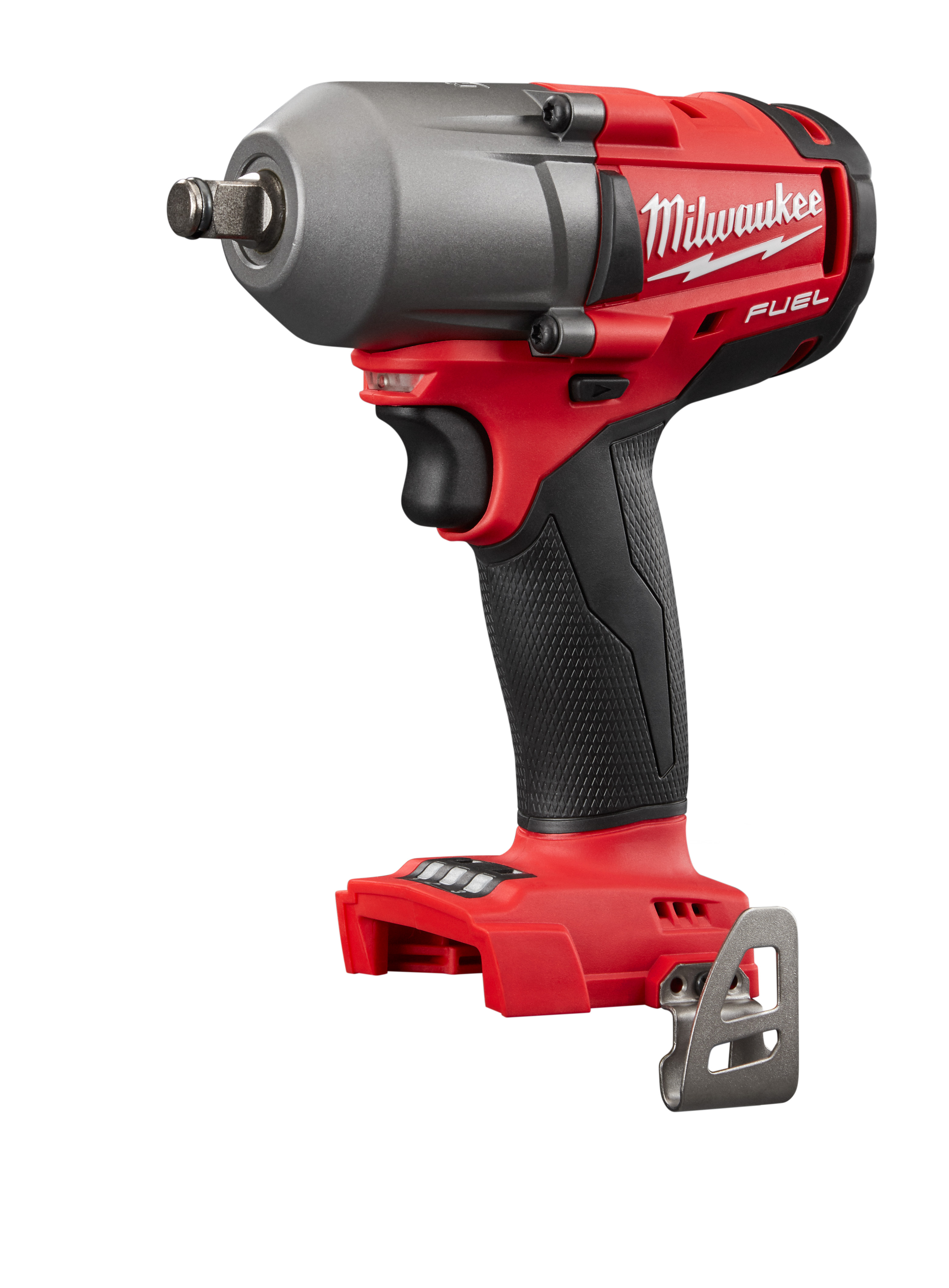 Milwaukee® M18™ FUEL™ 2861-20 Mid Torque Cordless Impact Wrench With Friction Ring, 1/2 in Straight/Square Drive, 3000 bpm, 600 ft-lb Torque, 18 VDC, 6.77 in OAL