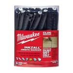 Milwaukee® 48-22-3100 INKZALL™ Permanent Industrial Marker, Fine Line Tip, Acrylic, Black