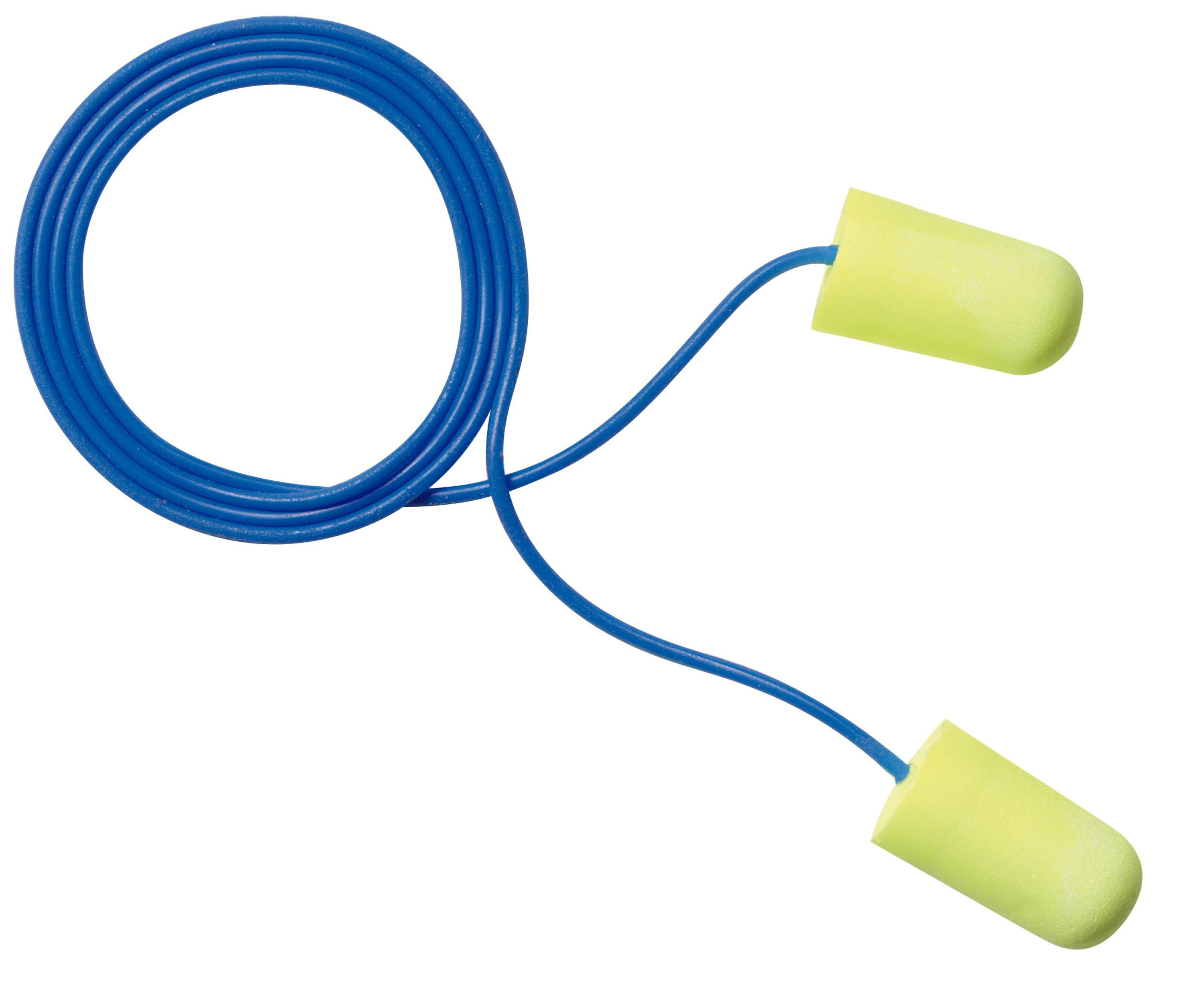 E-A-R™ E-A-Rsoft™ 080529-11034 Neons™ Earplugs, 33 dB Noise Reduction, Tapered, Specifications Met: CSA Class AL, Disposable, Corded Design