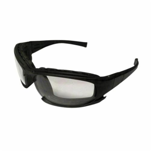 Jackson Safety* 25672 V50 Calico Lightweight Safety Glasses With Interchangeable Strap, Anti-Fog, Clear Lens, Black, Polycarbonate Frame, Polycarbonate Lens, ANSI Z87.1+2010, CSA Z94.3-2007, EN 166-2001