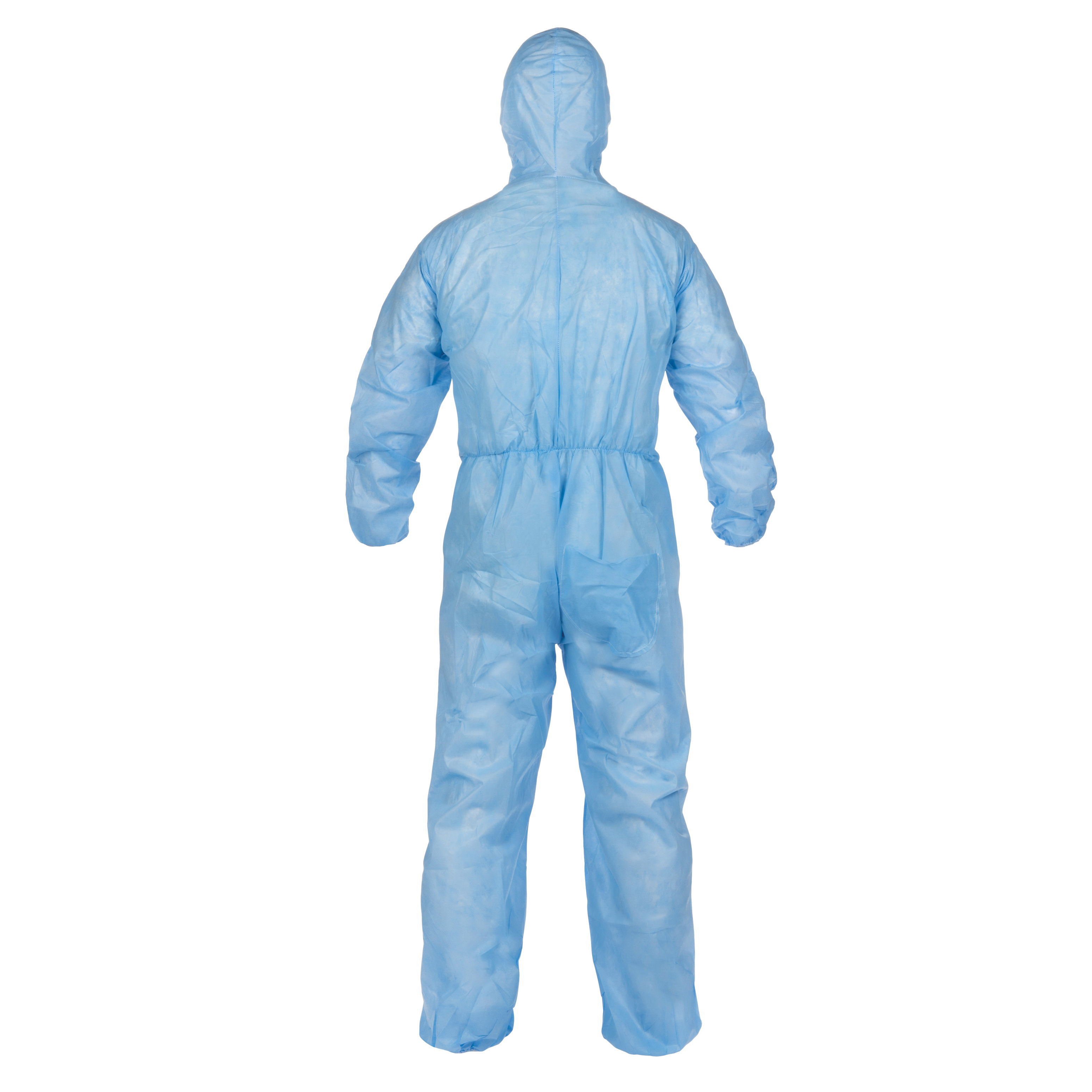 Lakeland® 07428B-2XL Disposable Coverall With Elastic Ankle and Elastic Wrist, 2XL, Blue, Pyrolon® Plus 2, 52 to 54 in Chest, 29 in L Inseam