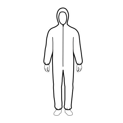 Lakeland® CNS428-2X General Purpose Disposable Coverall, 2X-Large, White, MicroMax® NS