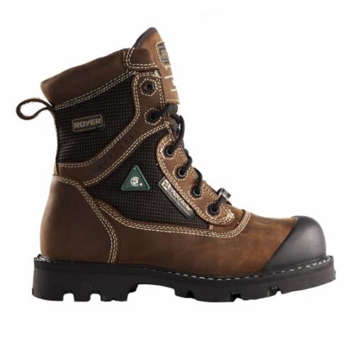 LP Royer 10-8620-6 Metal Free 8620 General Purpose Lightweight Work Boots, SZ 6, TPU Pareshok™ Bumper Toe, 2 mm Crazy Horse Leather/Armortex® Fabric Upper, FLX™ Rubber Outsole, ASTM F2413-11 I/75, C/75, PR, EH, CSA Z195-09
