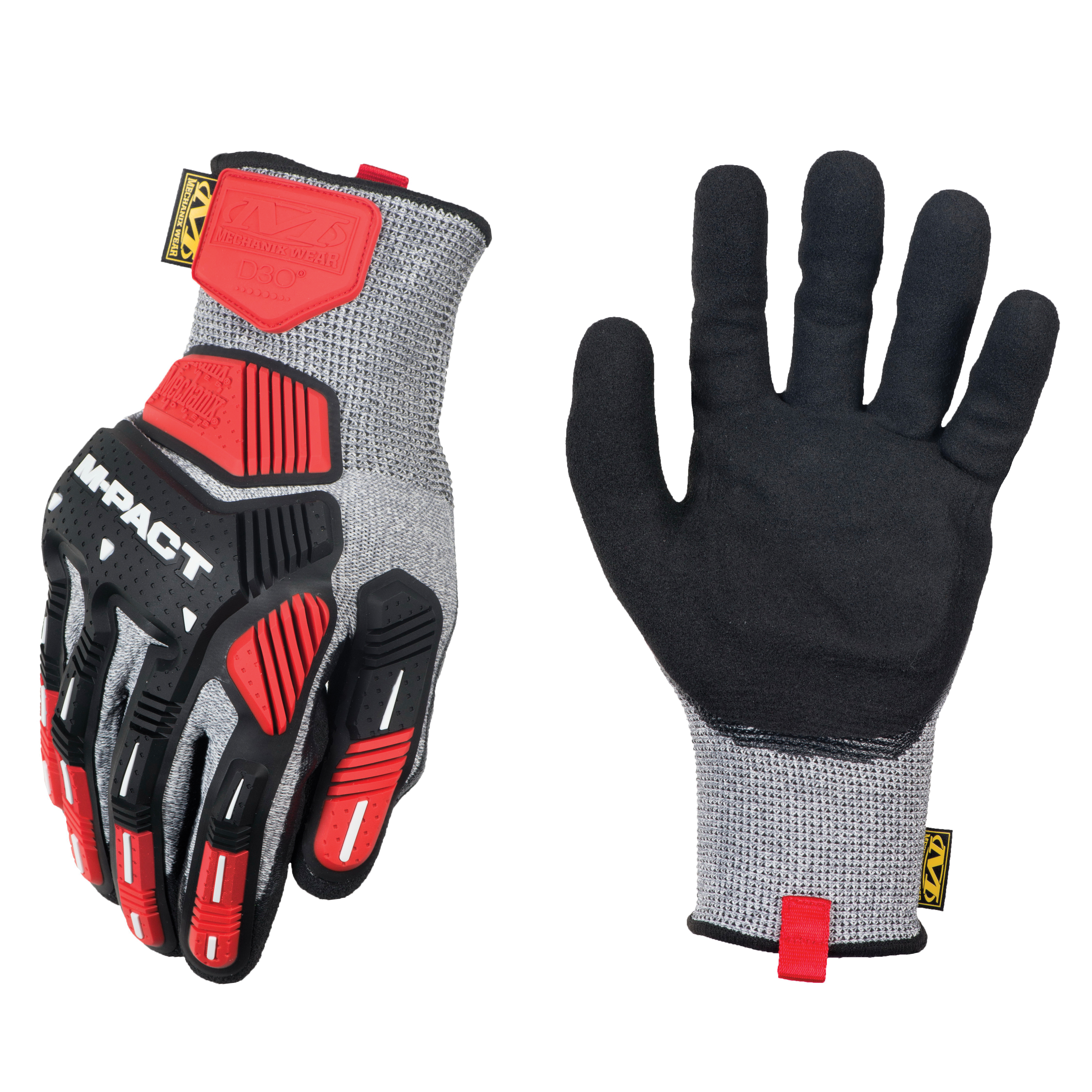 Mechanix Wear® KHD-CR-008 ORHD® Knit CR5A5 Cut Resistant Gloves, S/SZ 8, Nitrile/Textured Coating