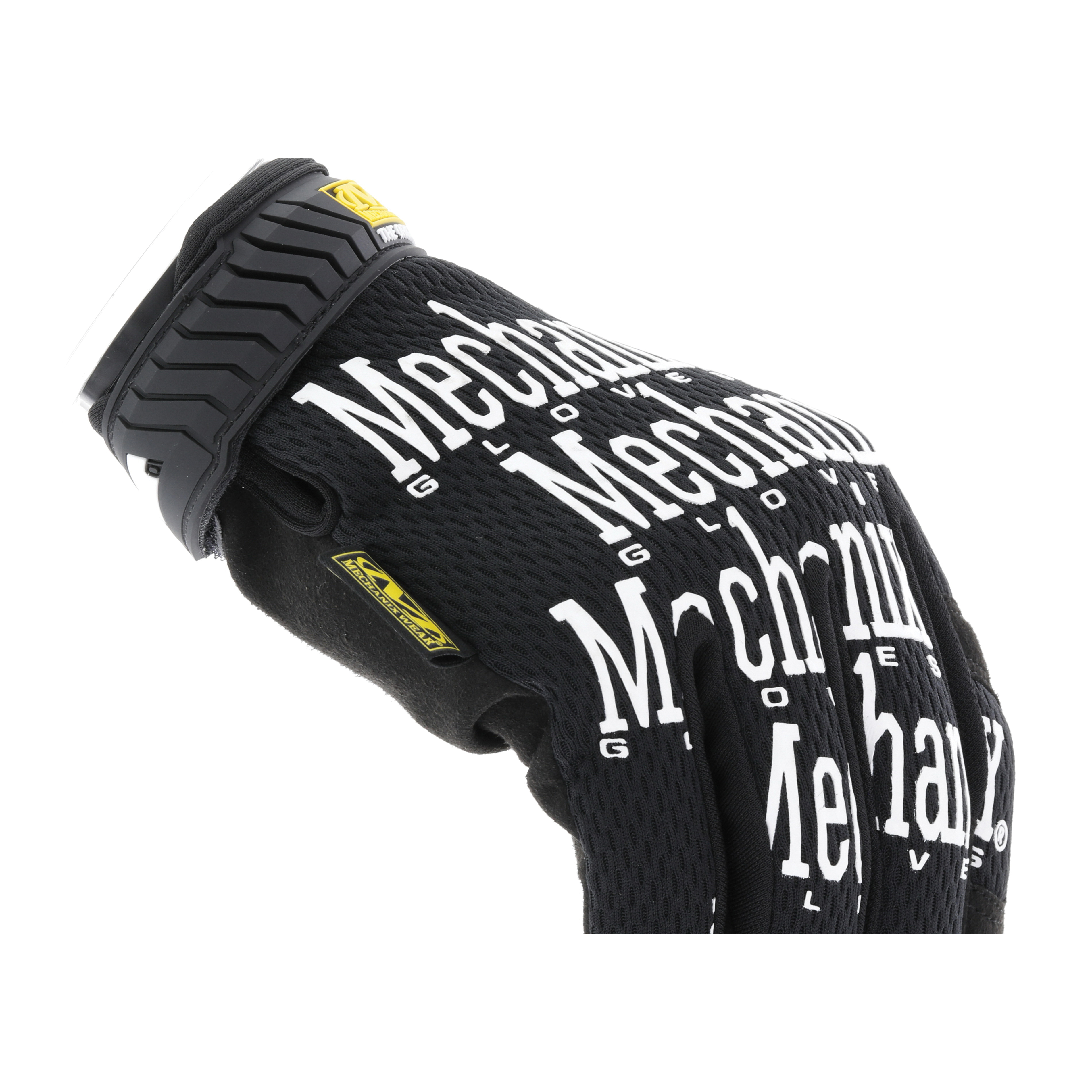 Mechanix Wear® MG-05-007 The Original MG General Purpose Gloves, Utility, Full Finger/Seamless/Wing Thumb Style, XS/SZ 7, Synthetic Leather/Spandex® Palm, Nylon, Black, Hook and Loop Cuff, Foam Lining