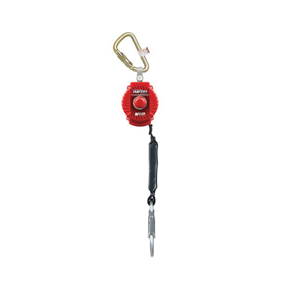 Miller® by Honeywell MFL-1-Z7/6FT TurboLite™ Personal Fall Limiter With Carabiner, 400 lb Load, 6 ft L, Polyester/Vectron® Core Line, Steel Hardware