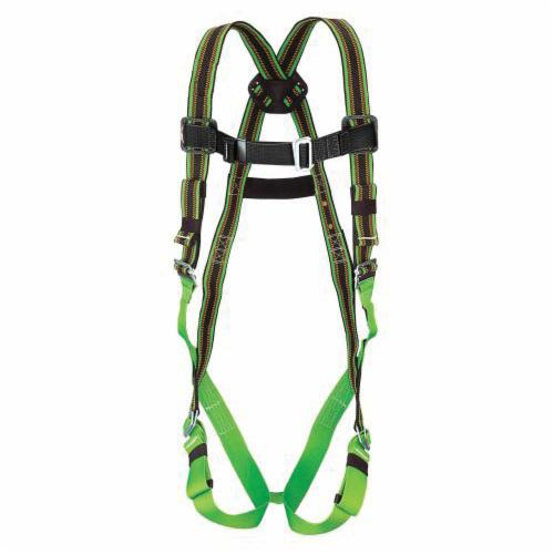 Miller® by Honeywell DuraFlex® E570/S/MRN Harness, S to M, 400 lb Load, Polyester/Urethane Elastomer Strap, Mating Leg Strap Buckle, Mating Chest Strap Buckle, Friction Shoulder Strap Buckle, Steel Hardware, Green