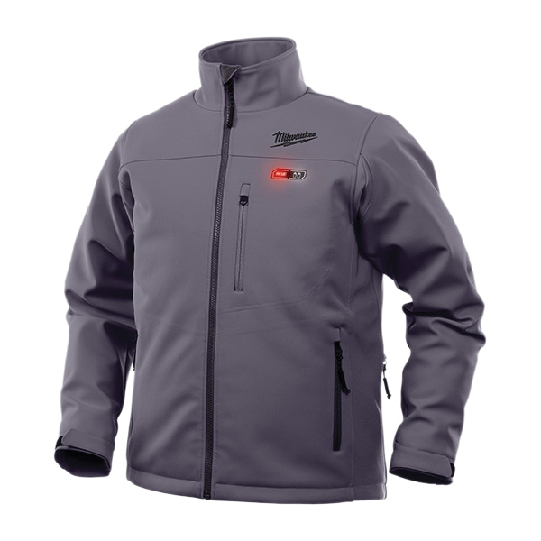 Milwaukee® 202G-21S Insulated Heated Jacket Kit, S, Gray, Brushed Tricot/TOUGHSHELL™ Stretch Polyester, 38 to 40 in Chest, Resists: Wind and Water