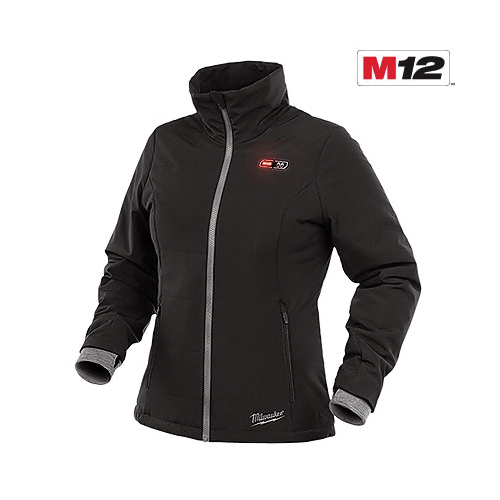 Milwaukee® 232B-21L Insulated Softshell Heated Jacket Kit, L, Black, Polyester, 37 to 39 in Chest, Resists: Wind and Water