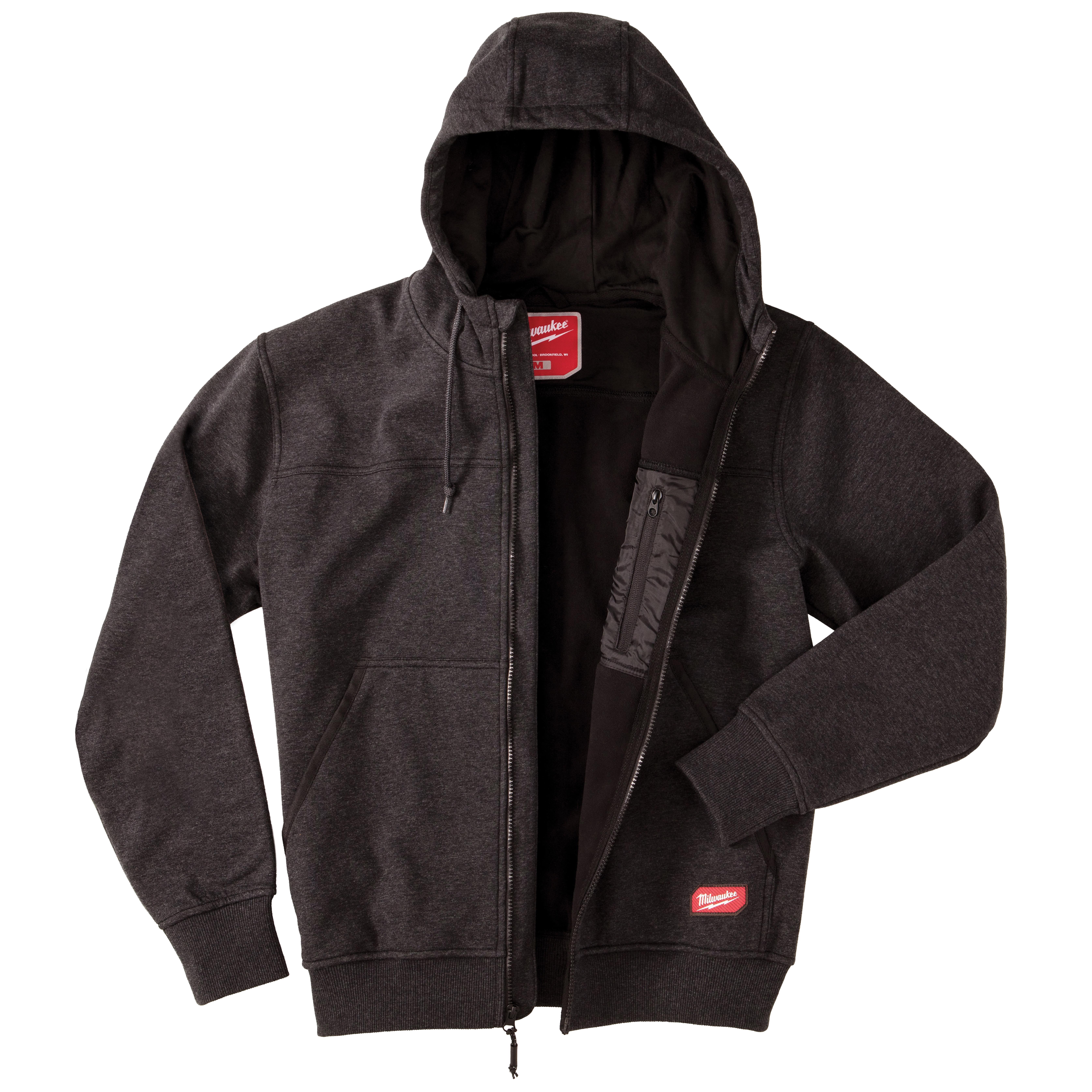 Milwaukee® NO DAYS OFF® 311B-2X Fleece Lining Sweatshirt, Men's, 2X, Black, Polyester