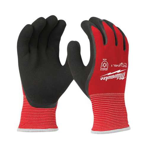 Milwaukee® 48-22-8913 Insulated Winter Dipped Work Gloves, XL, Nylon, Resists: Water, ANSI Cut-Resistance Level: 1