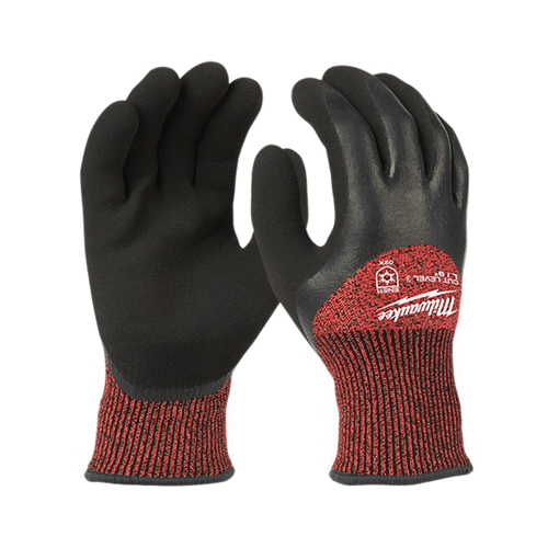 Milwaukee® 48-22-8921 Insulated Winter Dipped Work Gloves, M, Nylon, Resists: Water, ANSI Cut-Resistance Level: 3