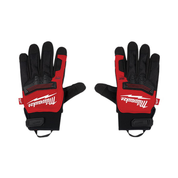 Milwaukee® 48-73-0043 Work Gloves, Winter Demolition, Finger Tip Style, XL, Black/Red