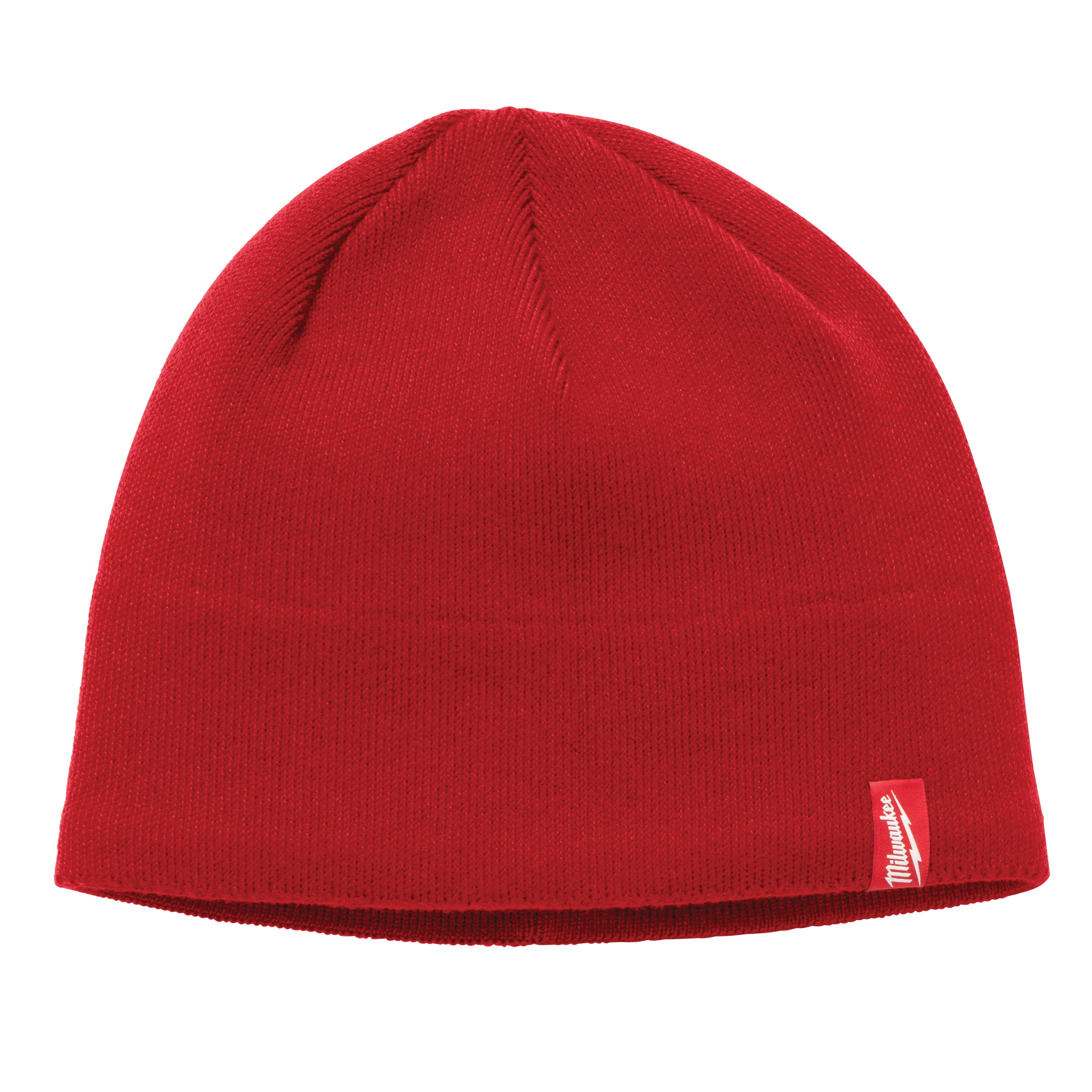Milwaukee® 502R Insulated Wind/Water-Resistant Knit Hat Fleece Lined Knit Hat, Universal, Red, Fleece Lined Polyester, Pull Over Closure