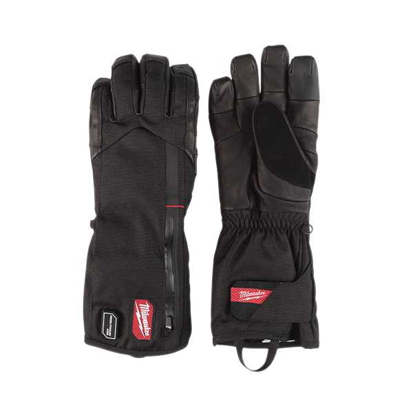 Milwaukee® REDLITHIUM™ 561-21M USB Rechargeable Heated Glove, M, Black, Polyester Lining, Hook and Loop Cuff, 7-1/2 in L, Resists: Abrasion and Tear