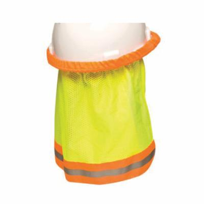 MSA 10098032 1-Ply Sun Shade Hard Hat Protector With Reflective Stripe, Provides Shade Cooling, Solid with Stripe Pattern, For Use With Hats or Caps