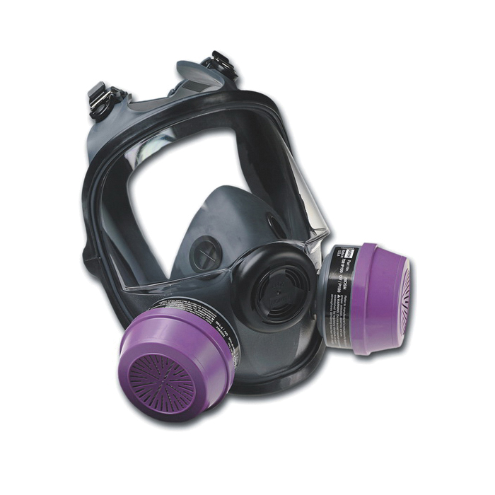 North® by Honeywell 54001S Standard Full Face Respirator, M, 4-Strap Suspension, Resists: Airborne Particulates, Chemical, Contamination, Gas, Vapors and Smoke