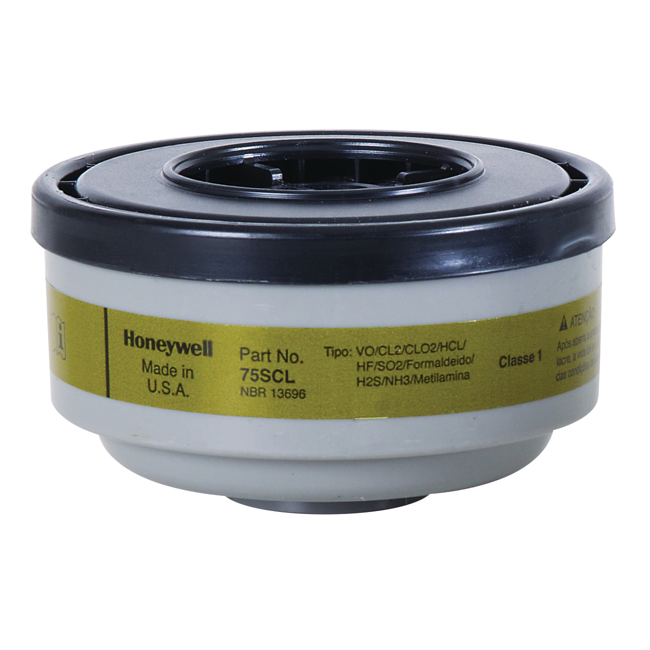 North® by Honeywell 75SCL N Series Multi-Contaminant Respirator Cartridge, For Use With 5500, RU8500 and 7700 Series Half Mask Respirators, Olive