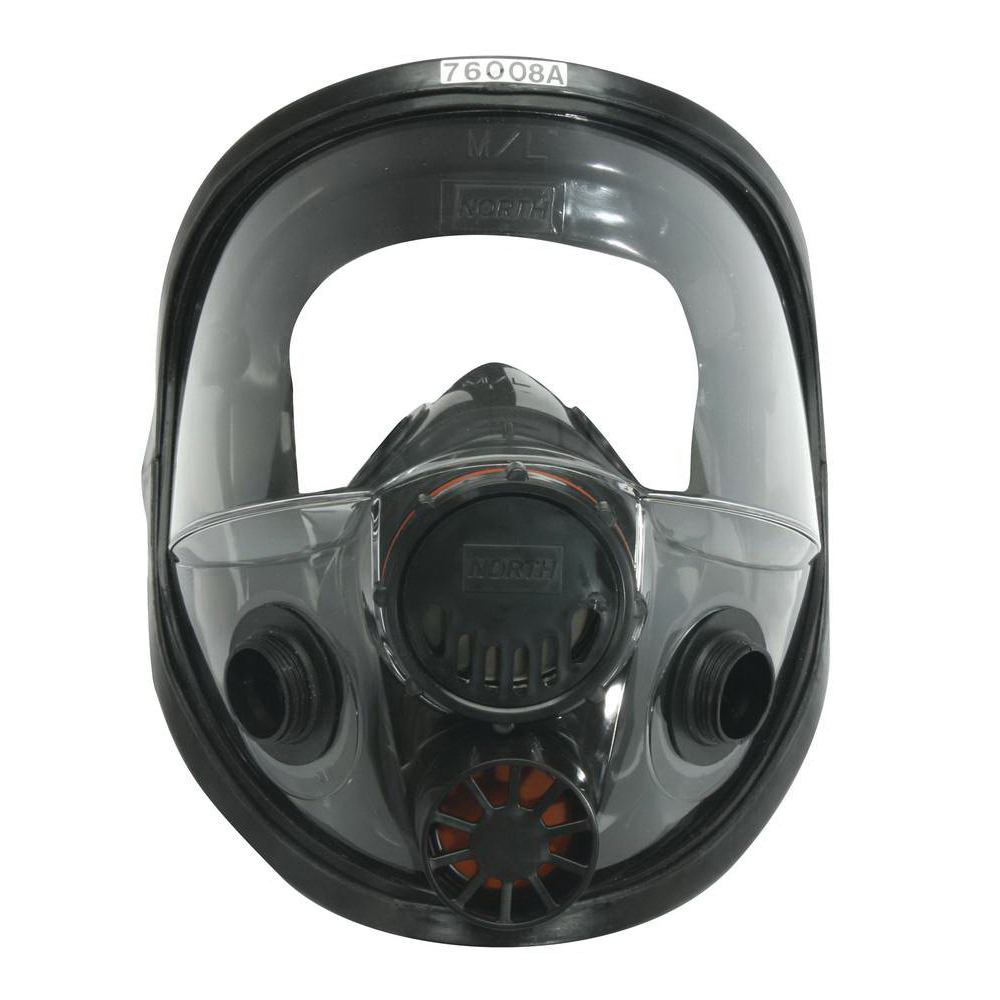 North® by Honeywell 760008A Full Facepiece Respirator, M to L, Threaded Connection