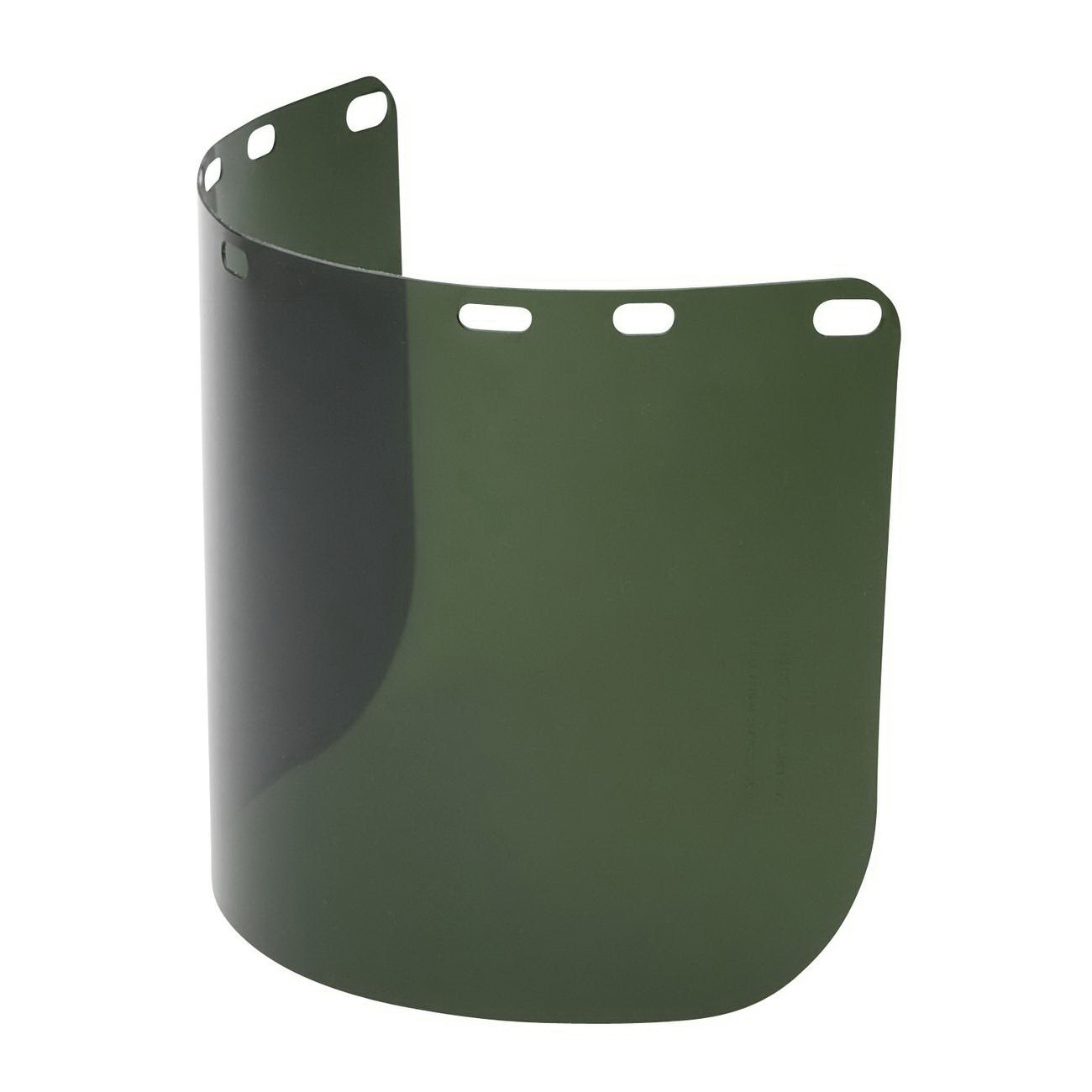 North® by Honeywell A8154G Faceshield Replacement Visor, Green, Polycarbonate, 8 in H x 15-1/2 in W x 0.04 in THK Visor, For Use With Headgears and Brackets, Specifications Met: ANSI Z87.1-2010
