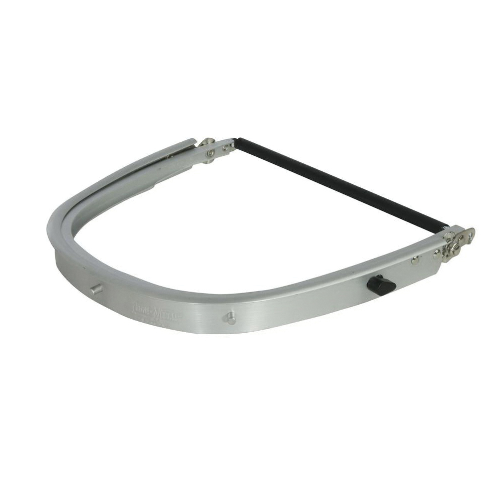 North® by Honeywell FH66 Faceshield Bracket, For Use With Protective Caps and Front Mounted Hard Hats, Aluminum, Silver