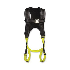 North® by Honeywell Rite-On™ FP81F/1DBA320 Comfort Harness, Universal, Quick-Connect Leg Strap Buckle, Quick-Connect Chest Strap Buckle, Carbon Steel/Alloy Steel Hardware