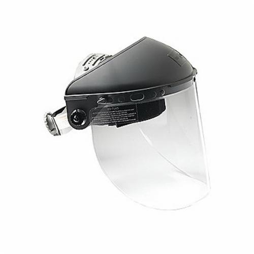 North® by Honeywell F500CSA Extended View Heavy Duty Faceshield Headgear, Gray, Noryl, For Use With Faceshield Visors, Ratchet Suspension Adjustment