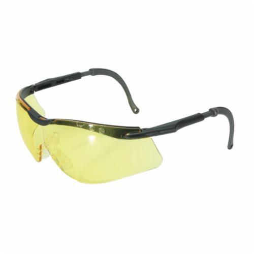 North® by Honeywell T56555BA N-Vision™ Ergonomic Safety Eyewear, North 4A/Anti-Fog/Anti-Scratch/Anti-Static/Anti-UV, Amber Lens, Half Framed/Wraparound Frame, Black/Gray, Elasto LT Frame, Polycarbonate Lens, ANSI Z87.1-2010, CSA Z94.3