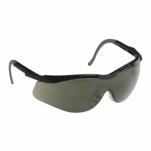 North® by Honeywell T56555BS N-Vision™ Ergonomic Safety Eyewear, North 4A/Anti-Fog/Anti-Scratch/Anti-Static/Anti-UV, Smoke Lens, Half Framed/Wraparound Frame, Black/Gray, Elasto LT Frame, Polycarbonate Lens, ANSI Z87.1-2010, CSA Z94.3